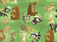 Forest animal maze/game