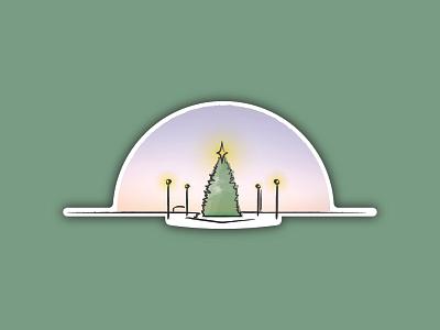 Galt Christmas Tree 2020 holiday tree christmas tree vector illustration