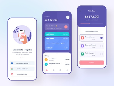 Banking Mobile App layout iconography icon wallet app money financial banking clean design branding colorful illustration ios mobile ui mobile app web ui design ui uiux app mobile
