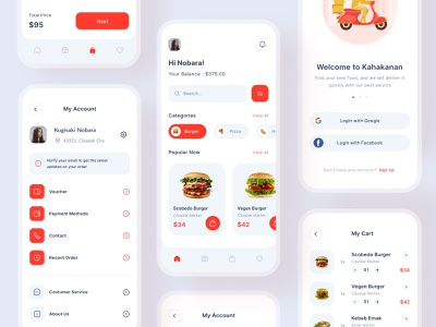 Kahakanan Mobile App exploration dribbble application smooth layout clean design icon illustration ecommerce app delivery app food app ux design user interface ui design uiux mobile app app