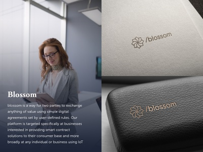 Blossom Logo Design simple logo clean logo modern logo technology logo flower logo logo design brand design minimal illustration icon branding logo design