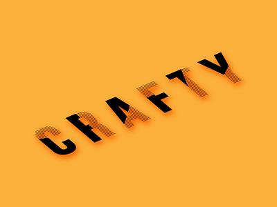 Crafty Logo crafty logodesign logotype craft logo stroke typogaphy isometric adobe illustrator