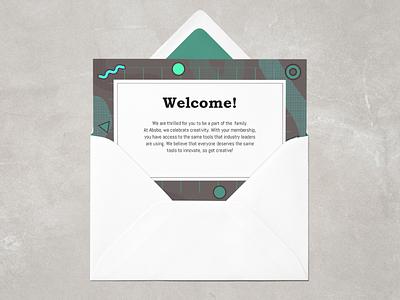 Adobe Membership Invitation pattern memphis design memphis style invitation adobe illustrator adobe