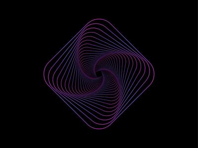 Spiral mark identity icon logomark logo gradient adobe illustrator