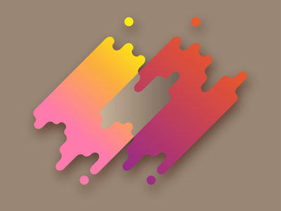 Intersecting Logo Concept 3d gradient intersect logo adobe illustrator
