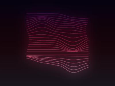 Glowing Wave Logomark photoshop adobe mesh outerglow gradient adobe illustrator
