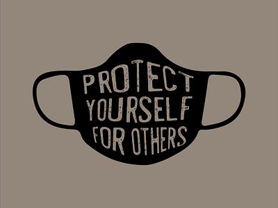 Protect Yourself for Others grain texture grainy masks mask meshtool envelopedistort coronavirus covid19 vector adobe illustrator