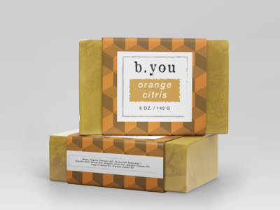 b.you soap bar Package Design