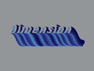 Dimension Blend blend tool typogaphy type 3d adobe illustrator gradient blend