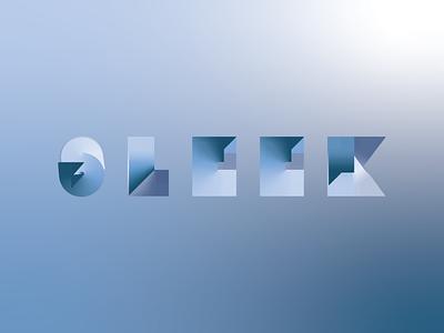 SLEEK gradient typographic typography type adobe illustrator