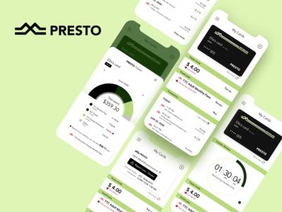 Use Case: Presto Card Mobile App (redesign) dashboard figmadesign user experience ux ux design uidesign mobile app transit card mobile app design ux  ui