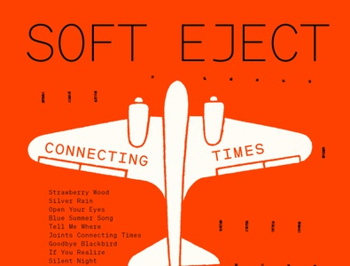 SOFT EJECT – Connecting Times [record cover] album art album music illustration record label record cover album cover design soft eject connecting times georgian band