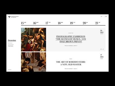 GMOFA – Events Calendar web museum exhibition calendar events project
