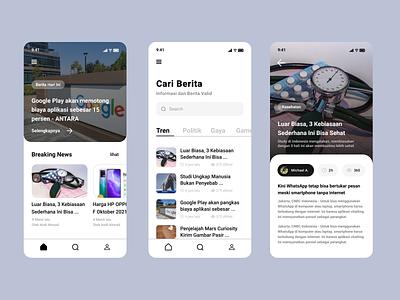 UI Design News App design app news ui news app ui design