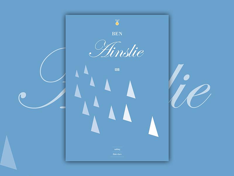 Ben Ainslie ainslie illustration design print poster