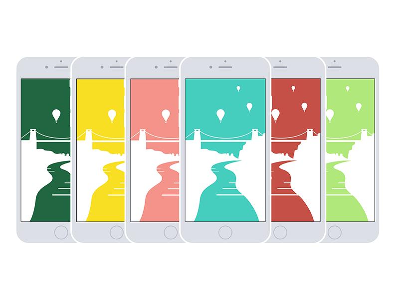 Bristol phone backgrounds illustration design bristol
