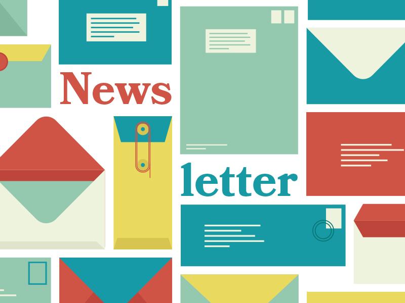 Newsletter illustration design newsletter