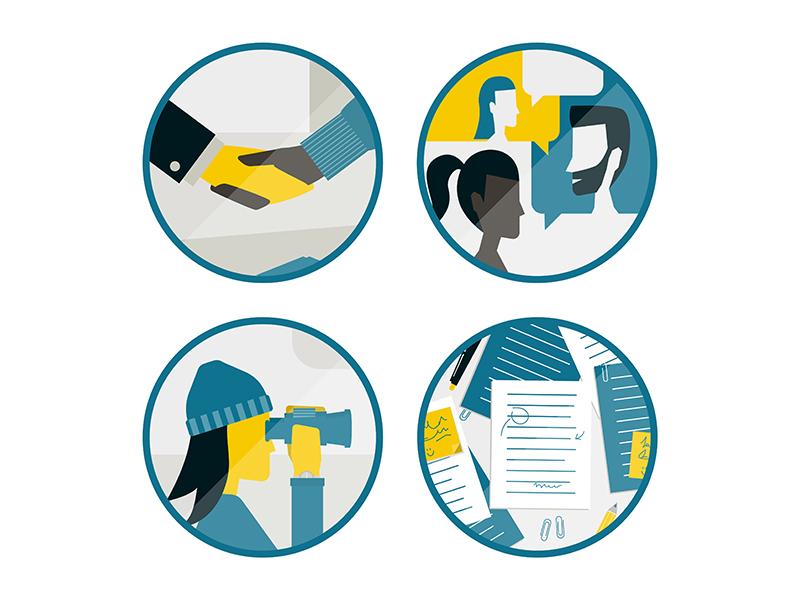 Community icons design illustration icons