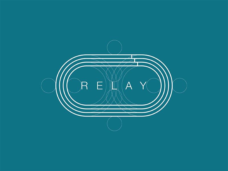 Relay graphic design logo branding