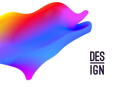 Design experiment with gradient soft bright vivid vector design illustrator gradient blur color abstract