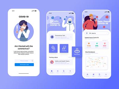 Coronavirus App coronavirus virus uiux designs mobile ui mobile health app healthcare medical health colors clean ui covid clean design art
