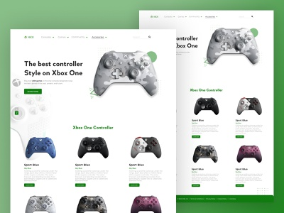 Xbox UI Dribble, Xbox One Web UI web best indonesia designer uidesign uxui website website design ui xbox360 xbox one xbox