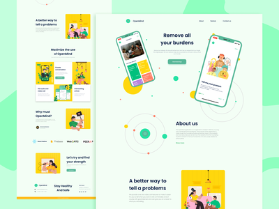 Website Introduction Product - Counseling Web - Inspuration clean ui typography ux best mobile app cool cool design flat colors 2020 inspirations website web mobile ui design