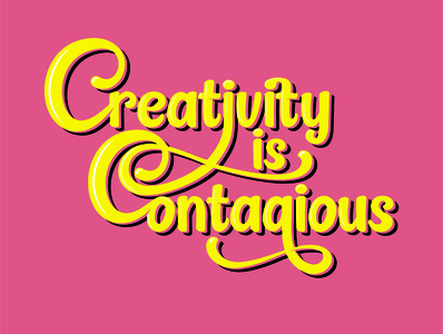 Typography creativity contagious logodesign logos logo creative design creativity creative type design typographic typedesign type typogaphy
