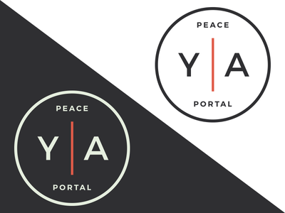 Peace Portal Young Adults Logo illustrator minimalist clean logo young adults church