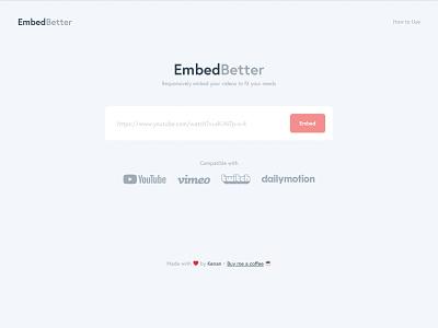 EmbedBetter wordpress twitch.tv dailymotion vimeo youtube web design and development video embed web development web design