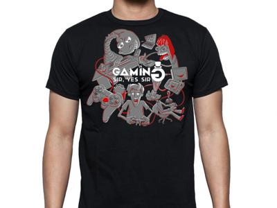 T-shirt Design for Gaming Sir, Yes Sir