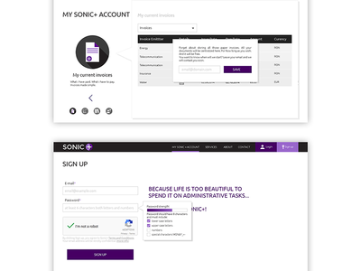 Web Application My Account  Sign Up Banking Industry