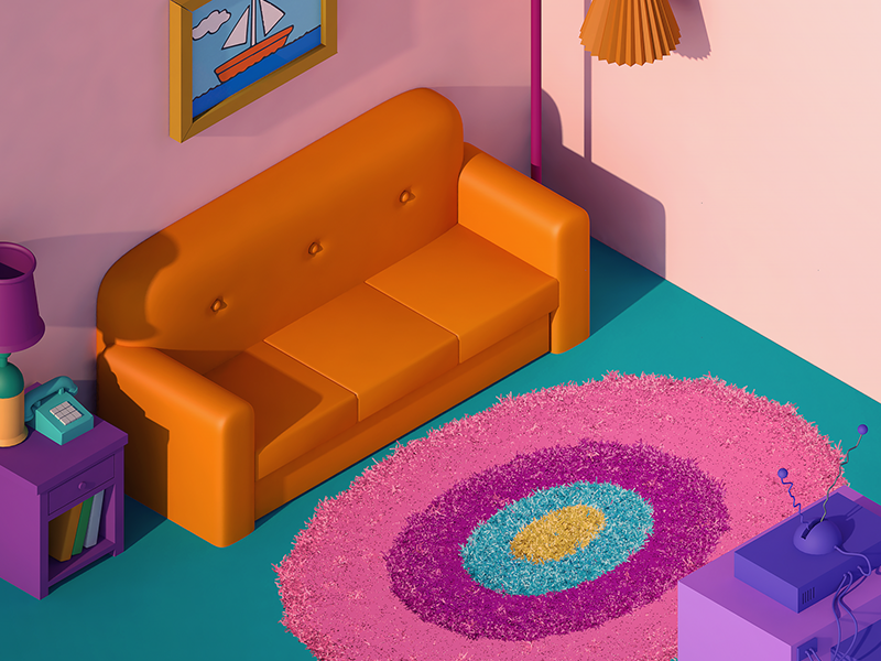 The Simpsons living room by Haik Avanian on Dribbble