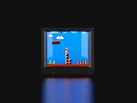 Super Mario Bros on a CRT TV
