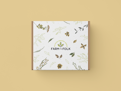 Farm to Folk Box Sleeve Design