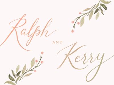 Ralph & Kerry Wedding