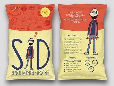 SID - Senior Incredible Designer brand design brand branding vector design illustration logo cv design cv