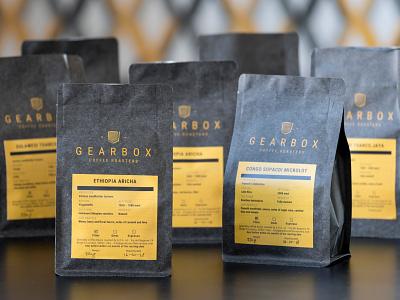 Gearbox Coffee Roasters webdesign website logo design logo brand identity brand design brand