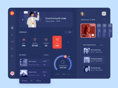 Doctor's Personal Organizer - Dashboard Interface