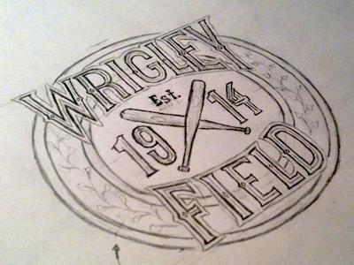Wrigley Field Sketch