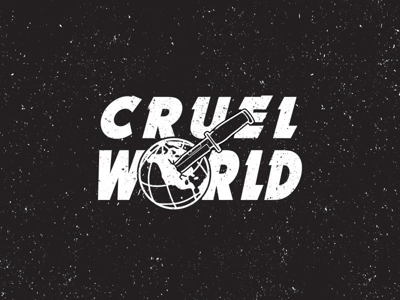 Cruel World illustrator illustration design knife globe waynes world