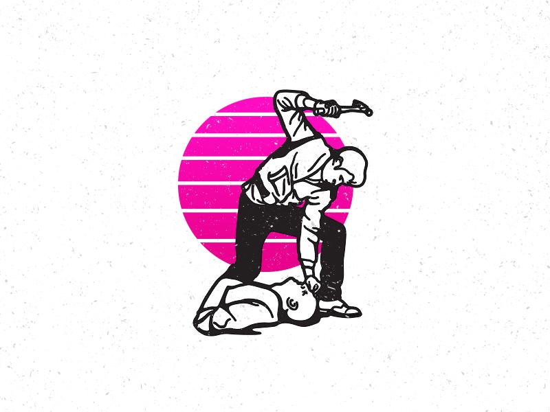 Drive 80s design vector illustration drawing retro ryan-gosling drive
