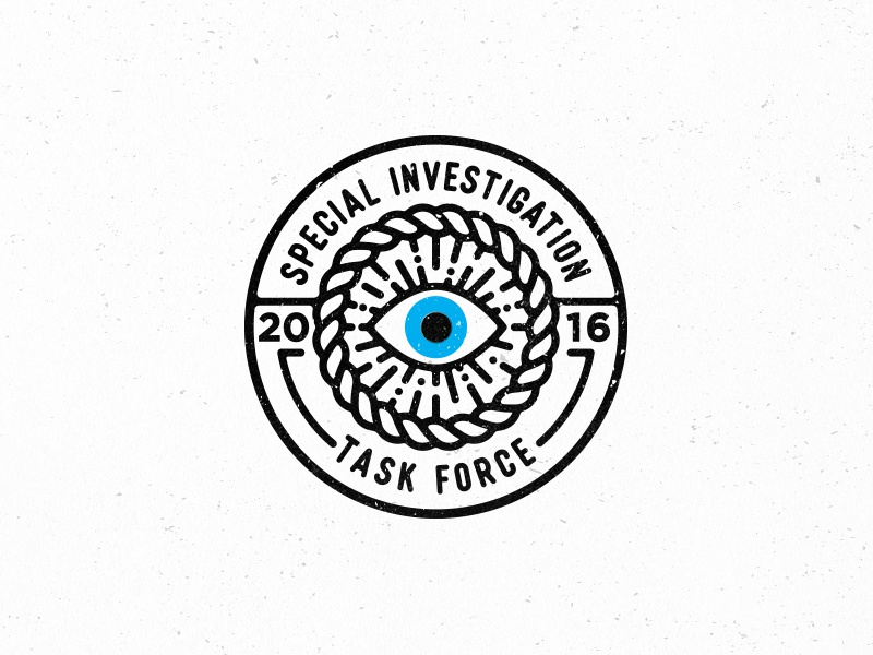 Logo Badge illustrator texture vector investigation special eye logo badge