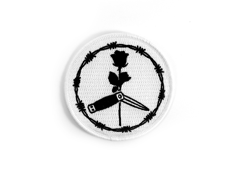 Tough Times Press black blade peace vector identity icon flat rose design patch