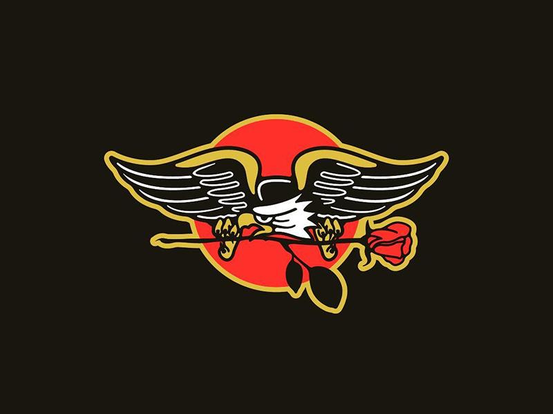 Eagle tattoo rose eagle