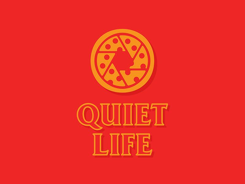 The Quiet Life typography photography pizza logo