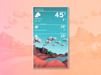 Local Weather lowpoly illustration ui