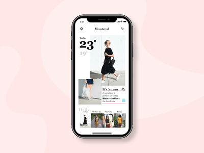 Weather/wear product ux ui app design