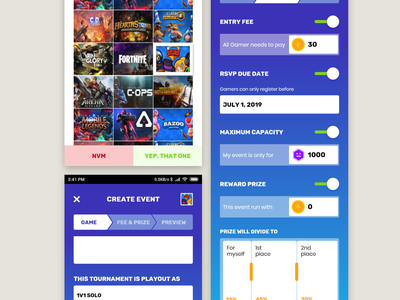 Create event - mobile UX web app mobile app event game ux
