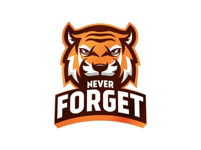 Never Forget eSports illustration mascot logos team logo mascot logo mascot emblem icon